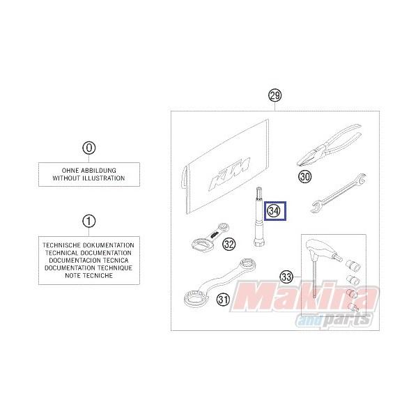 77329072000 Spark Plug Wrench KTM SX-F 450 '07-'12