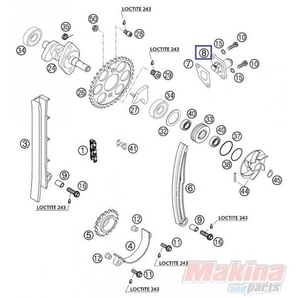 59036003000 Τεντωτήρας Καδένας Εκκεντροφόρου KTM EXC-400