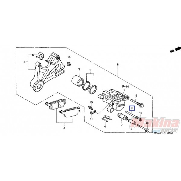 43215ML3911 Πειράκι Συγκράτησης Πίσω Φρένων Honda CB-600