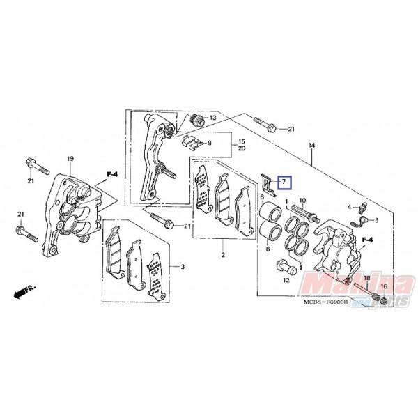 45108MY1006 Spring Pad Honda XLV-600-650-700 Transalp