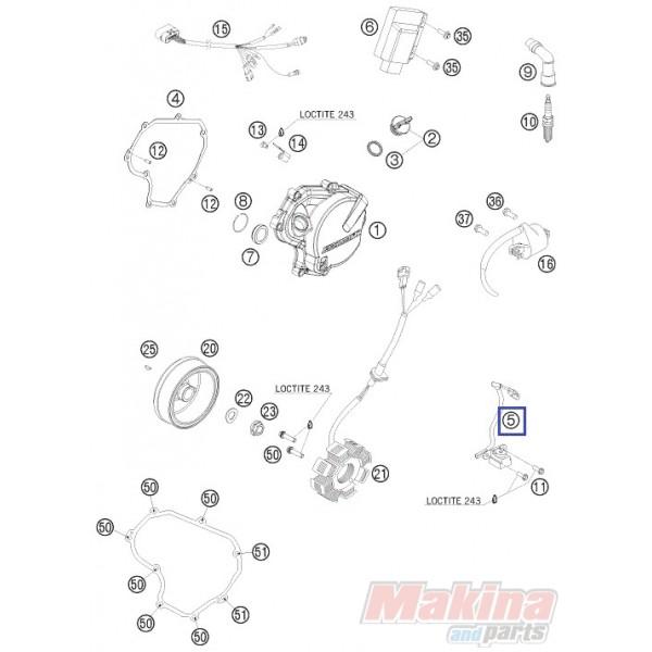 77339034000 Μάτι Βολάν KTM EXC-400-450-530 '08-'11