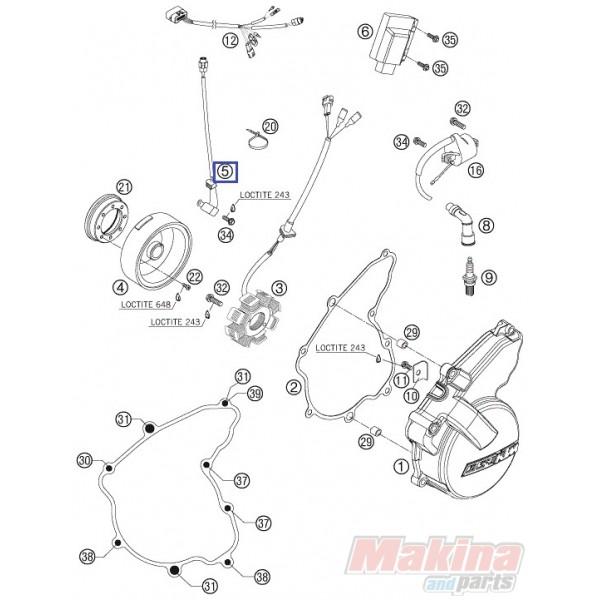 77039134000 Pulser Coil KTM EXC-F 250 '07-'11