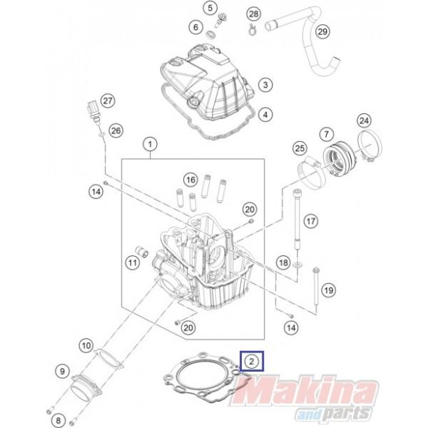 78030036000 Φλάντζα Εκρήξεως KTM EXC-400-450-500-530 '08-'16