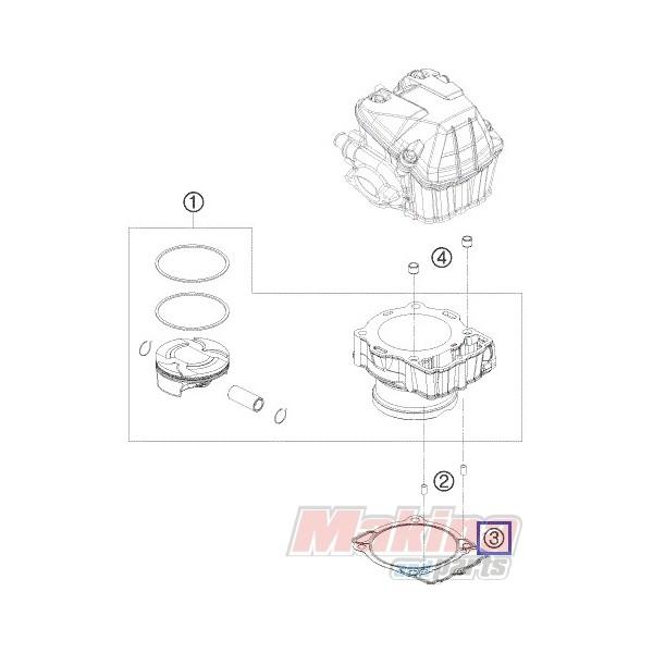 78030035000 Φλάντζα Βάσεως Κυλίνδρου KTM EXC-400-450-500