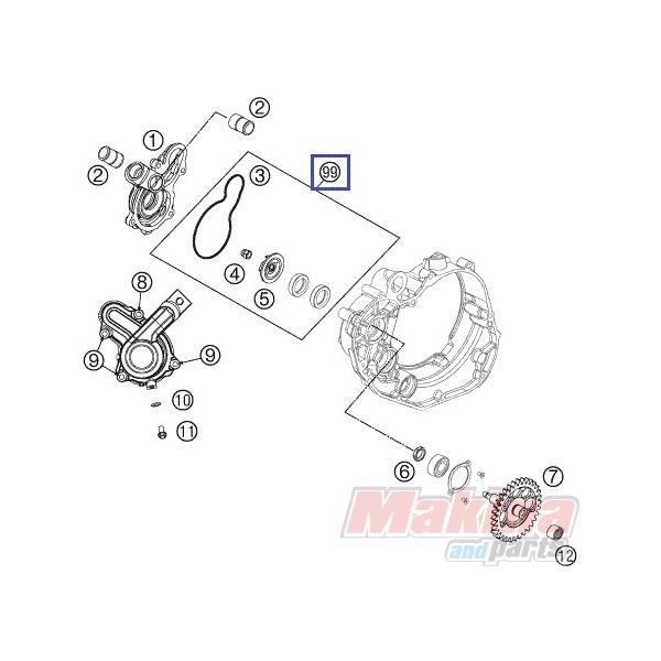 77335055010 Water Pump Repair Kit KTM SX-F 450-505 '07-'12