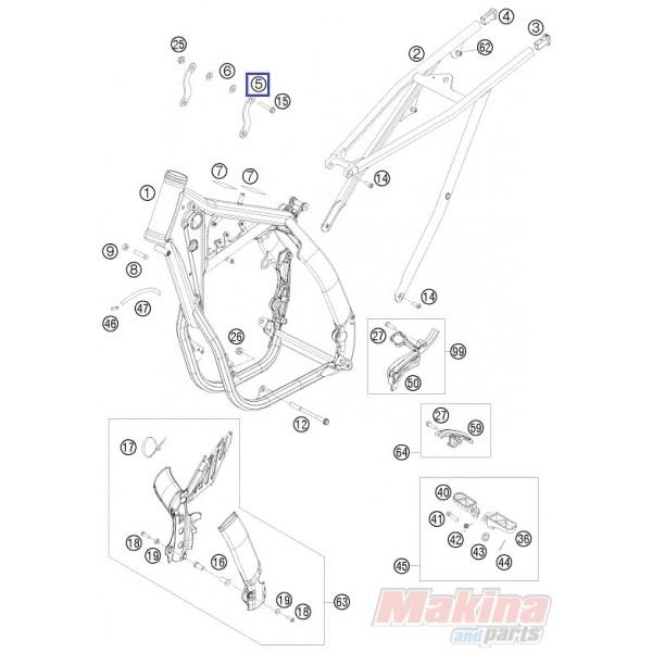77303113000 Engine Brace KTM SX-F 450 SMR-450 '09-'10