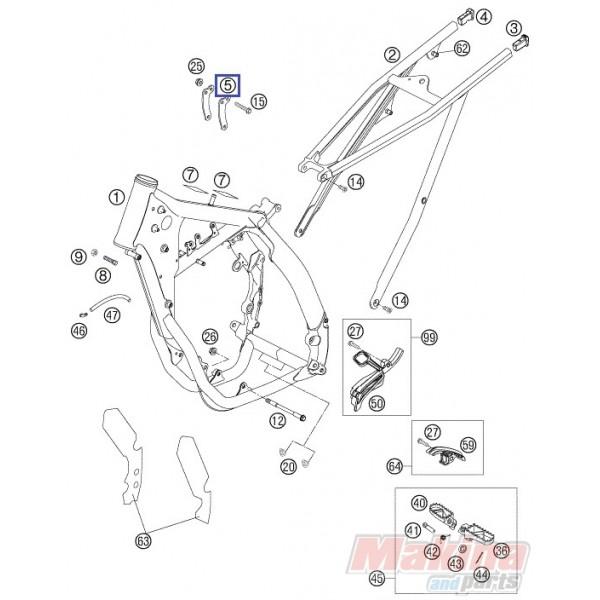 77303013000 Βάση Μοτέρ KTM SX-F 450 '07-'08