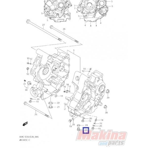 0924714036 Τάπα Εξαγωγής Λαδιού Suzuki DL-1000 V-Strom