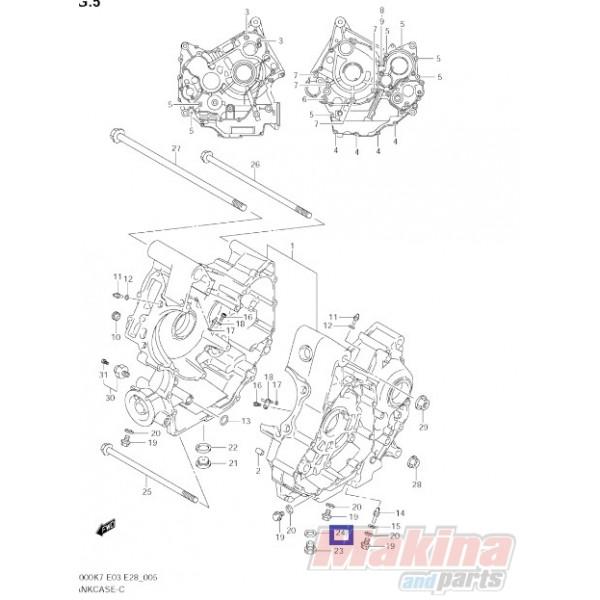 0916814004 Oil Drain Plug Gasket Suzuki DL-1000 V-Strom