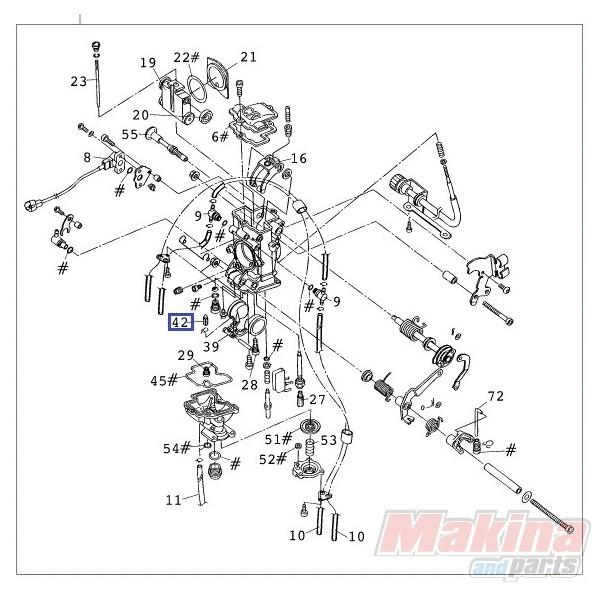 54631220000 Βελόνα Φλοτέρ Κρμπηρατέρ KTM EXC-SX '98-'16