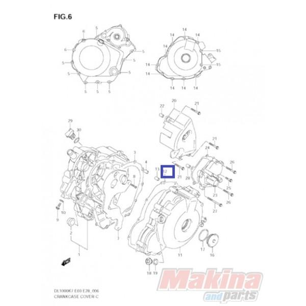 1148302F10 Magneto Cover Gasket Suzuki DL-1000 V-Strom