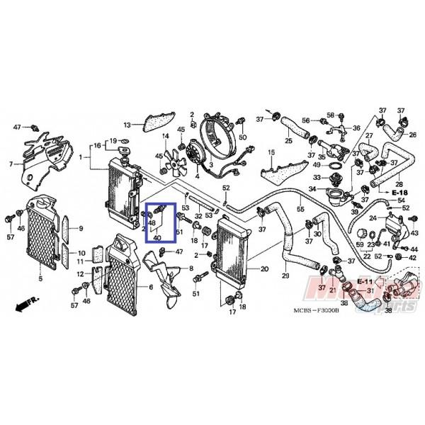 37760MT2003 Διακόπτης Βαντιλατέρ Honda XL-1000V Varadero
