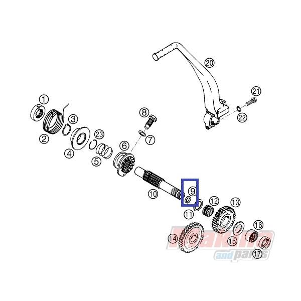 54632090000 Seal Ring Shift Lever KTM LC-4 640/Duke