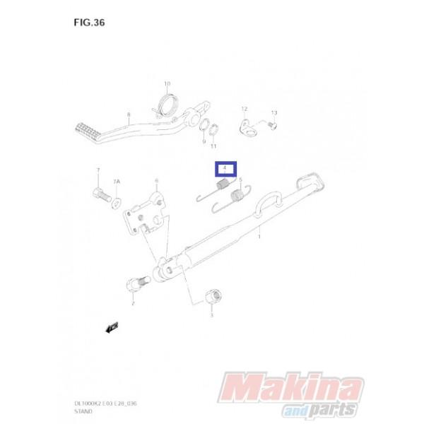 0944314058 Ελατήριο Πλάγιου Στάντ Suzuki DL-650/1000 V-Strom