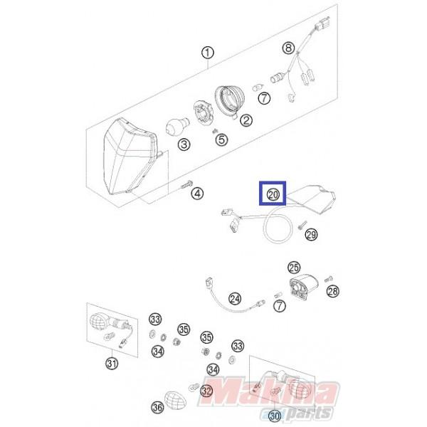 78014040000 Rear Light KTM EXC '08-'11