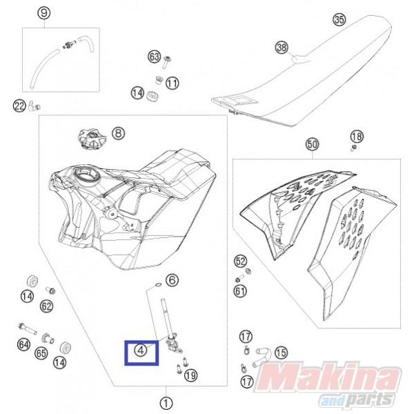 78007004000 Διακόπτης-Ρουμπινέτο Βενζίνης KTM EXC EXC-F