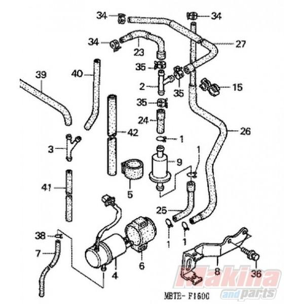 16710MBT612 Fuel Pump Honda XL-1000V Varadero