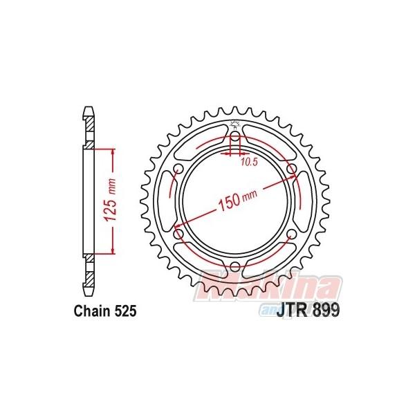 JTR899.42 JT Rear Sprocket 42t. KTM ADV-950/990/1190