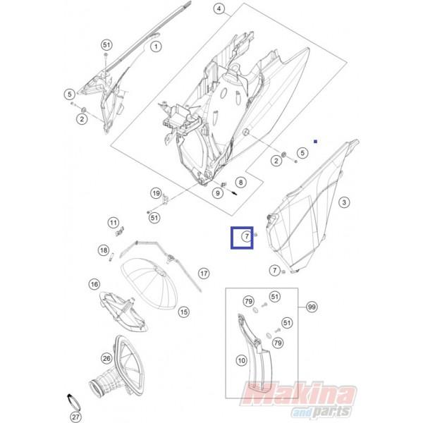 54806008051 Quick Release-Nipple KTM EXC/SX '03-'19