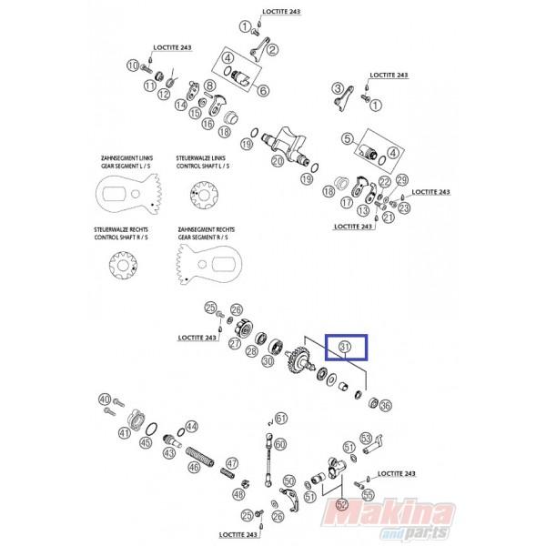 54637050344 Αξονάκι-Γρανάζι Αντλίας Νερού KTM EXC-SX 250