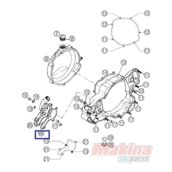 54635003200 Φλάντζα Αντλίας Νερού KTM EXC-SX 250-300 '98-'03
