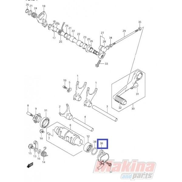 3773041G02 Sensor Assy. Gear Position Suzuki GSXR-1000 '05-'08