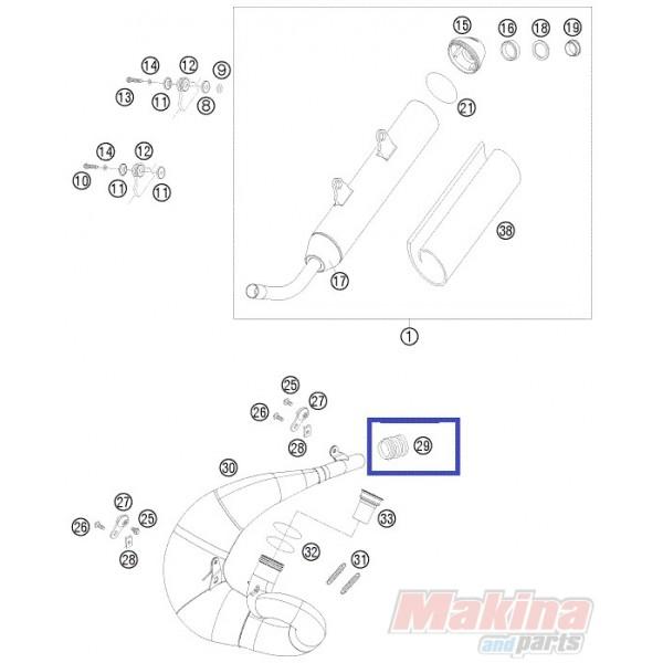 54605157000 Κολάρο Εξάτμισης KTM EXC-SX-125-250-300 '00-'10