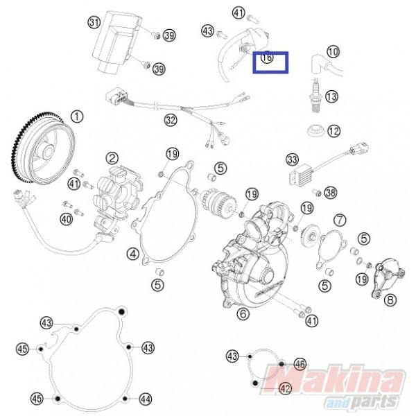 59039006000 Πολλαπλασιαστής KTM EXC-SX