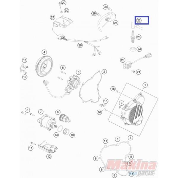 47039090000 Μπουζόπιπα KTM EXC-125-200-250-300 '05-'17
