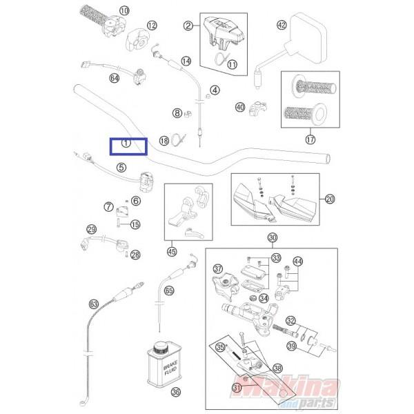 5480200130017 Τιμόνι 28mm KTM EXC '07-'11