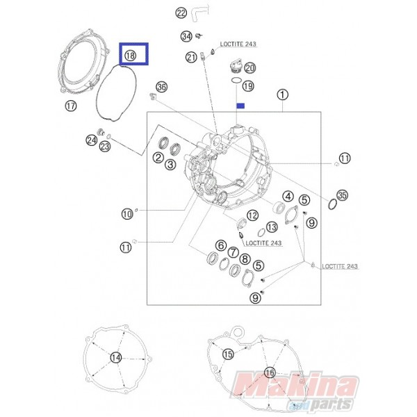 19-G6427 PROX Clutch Cover Outside Gasket KTM SX-F 450 '07-'12