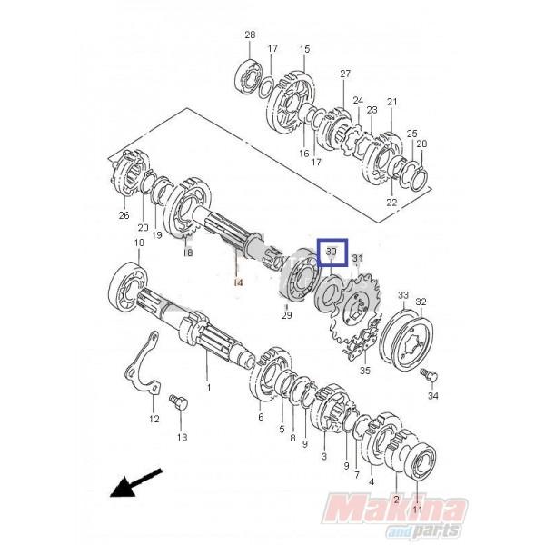 0928325096 Τσιμούχα Γραναζιού Κίνησης Suzuki XF-650 Freewind