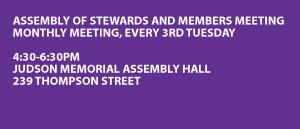 Weekly organizing meeting