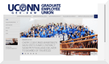 GEU-UAW Local 6950 (Graduate Employee Union) represents over 2,300 graduate employees at the University of Connecticut.