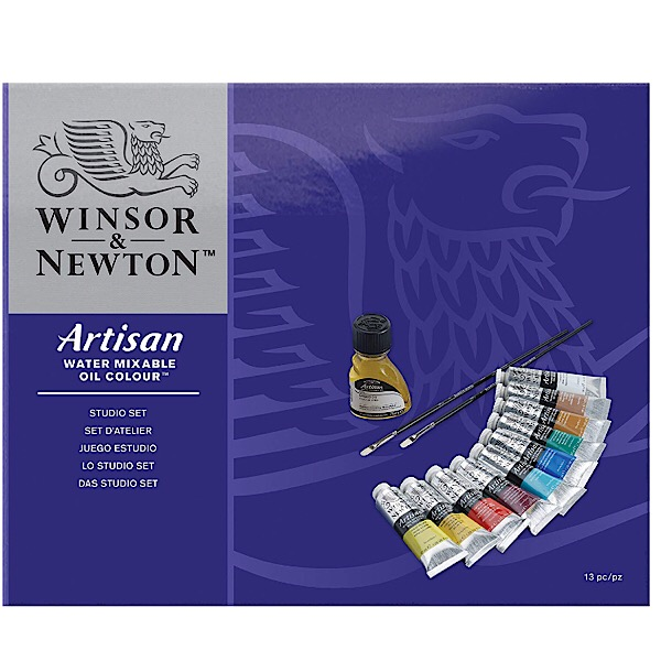 Winsor & Newton Artisan Water Mixable Oil Colors Studio Set of 10 Colors
