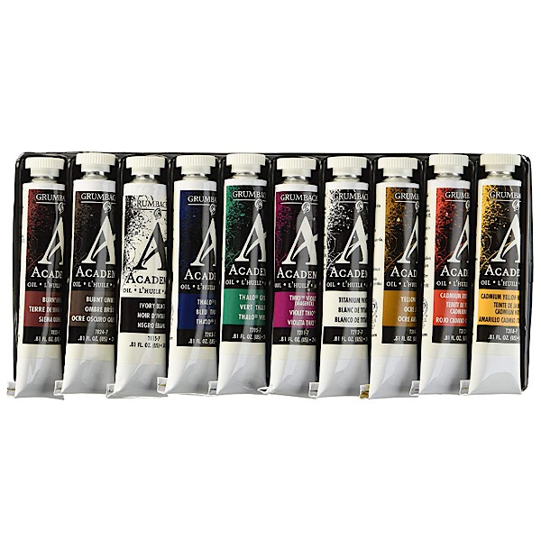 Grumbacher's Academy Oil Colors Set of 10