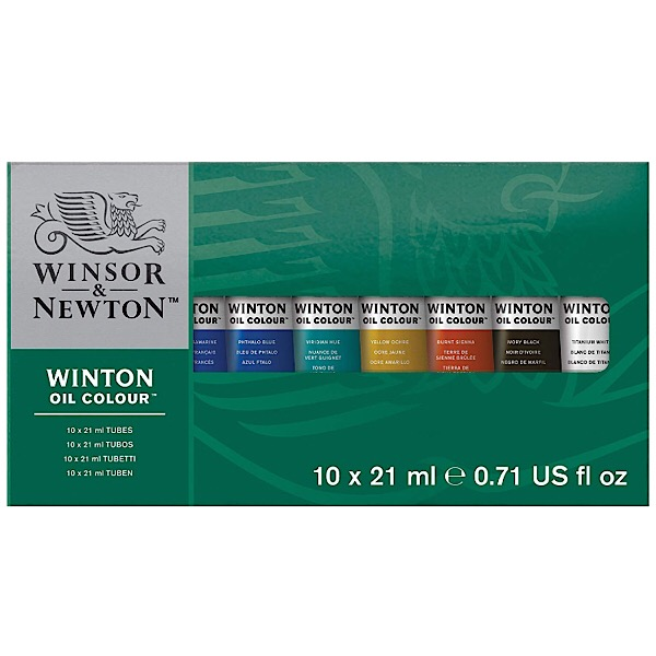 Winsor & Newton Winton Oil Colors Set – Basic 10 Color Set