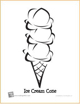 Triple Scoop Ice Cream Cone (Birthday)   Free Printable ...