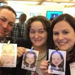 Aaron, Megan and Sarah Gilbert at the RISC booth #atdTK