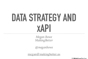 Data Strategy and xAPI by Megan Bowe