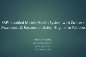 xAPI-Enabled Mobile Health System with Context Awareness Recommendation Engine for Patients by Jessie Chuang