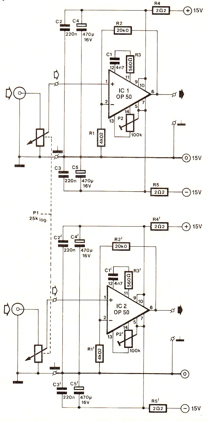 Stereo Hi-Fi Headphone Amplifier Circuit
