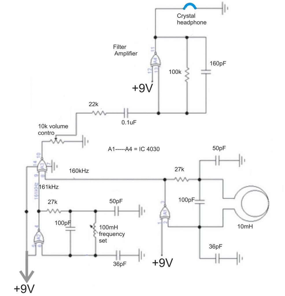 Metal Detector Circuit 555 Cheap Schematic