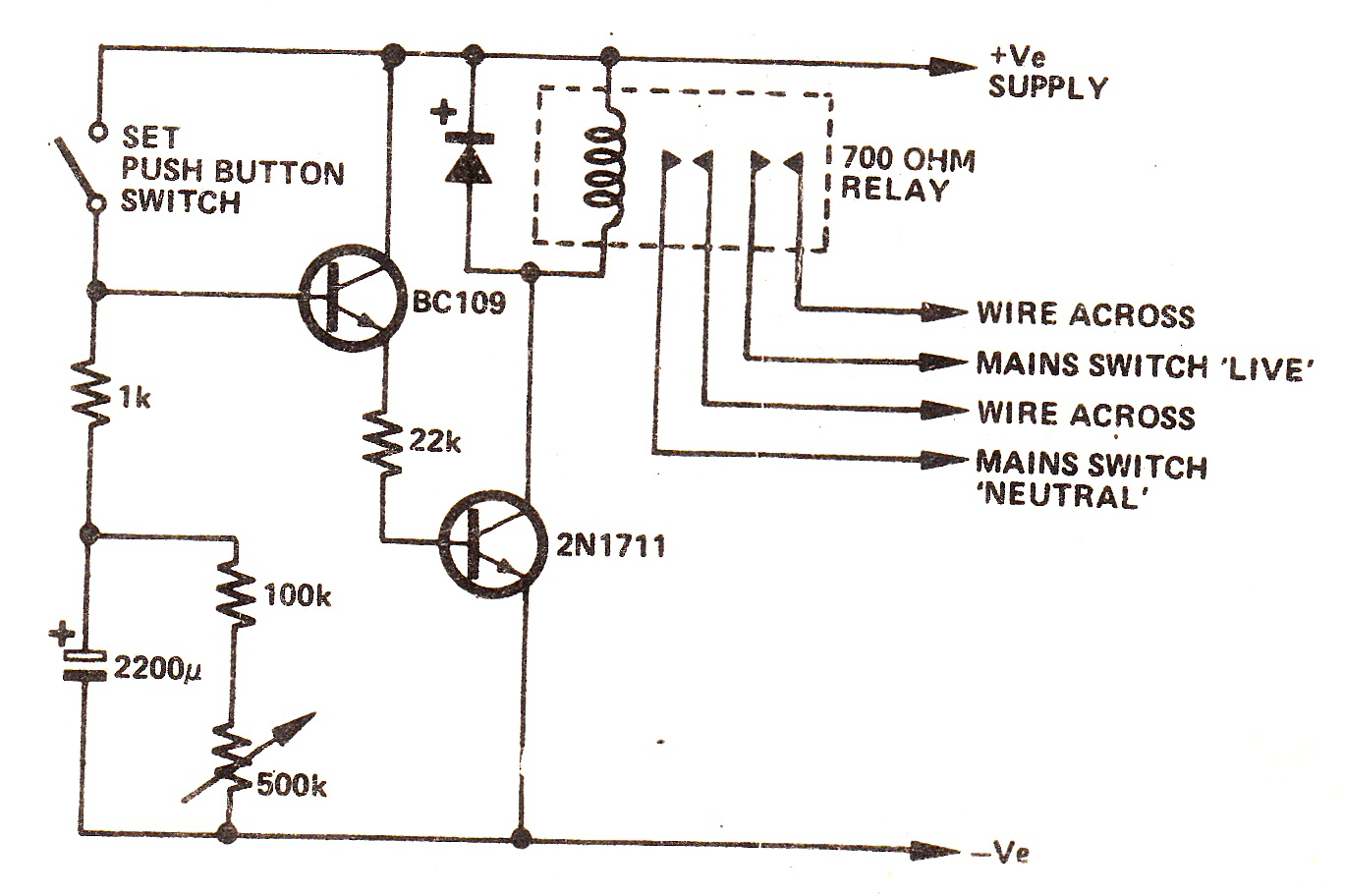 off delay timer wiring diagram cherokee snooze circuit