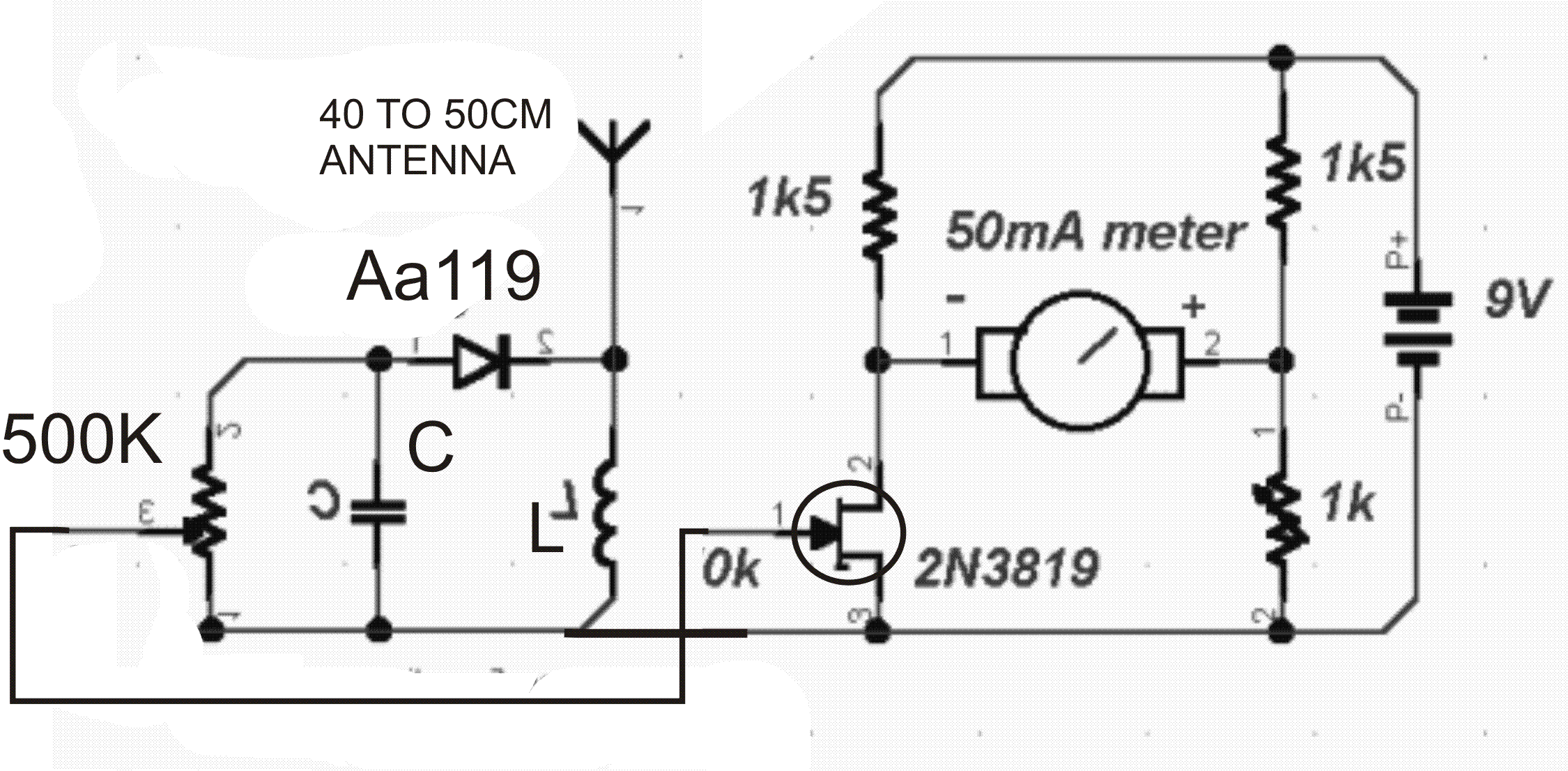 simple fm transmitter schematic