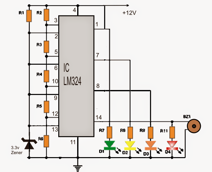 How To Make A Car Battery Voltage Monitor Circuit