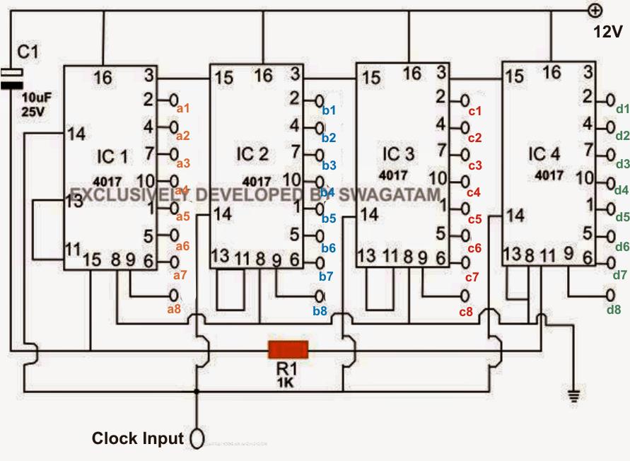 Scrolling, Chasing RGB Circuit