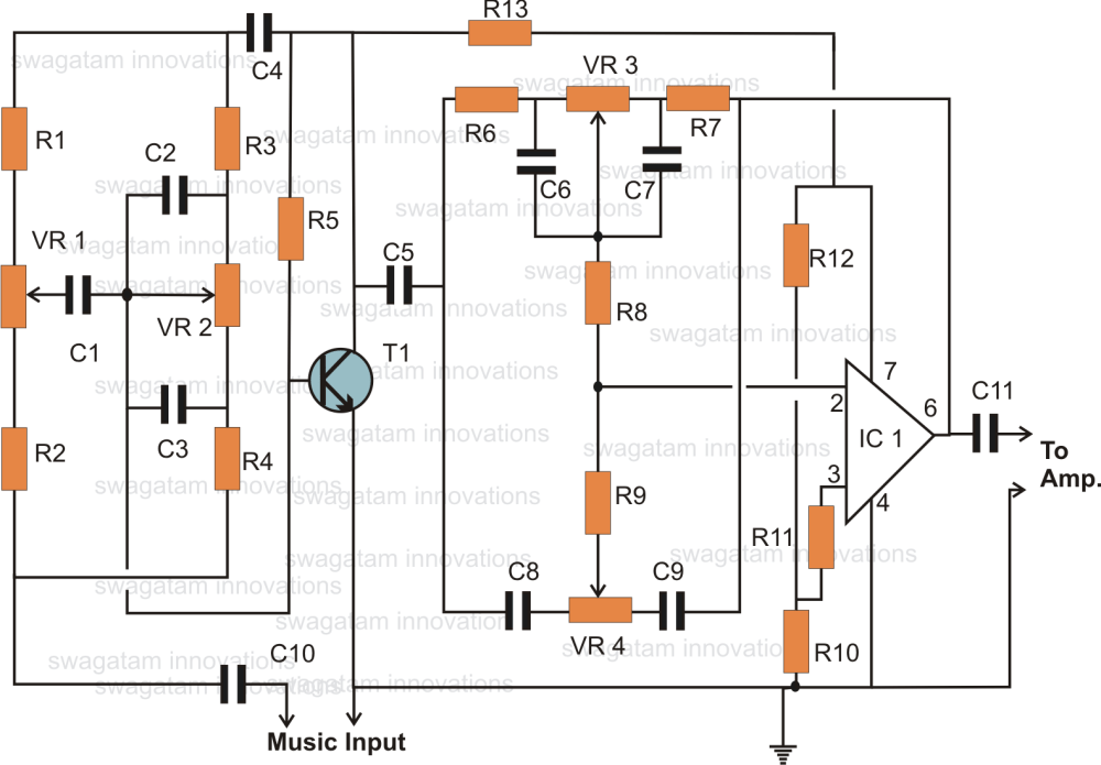 medium resolution of simple home theater circuit explained further tone control circuit diagram likewise basic electrical circuit