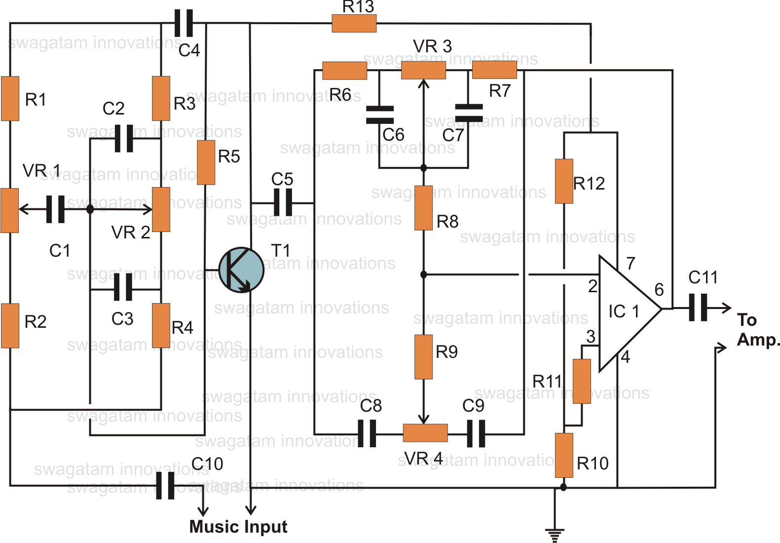hight resolution of simple home theater circuit explained further tone control circuit diagram likewise basic electrical circuit