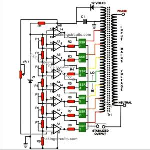 5KVA Voltage Stabilizer Circuit